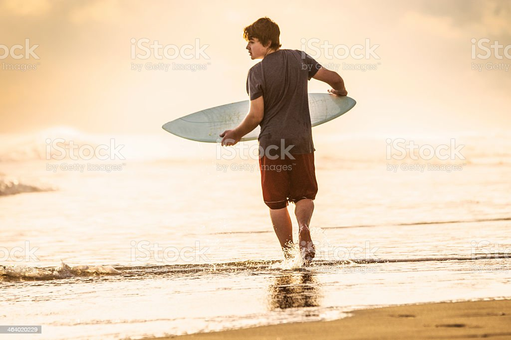 Skim boarder on a beach, OBX. stock photo