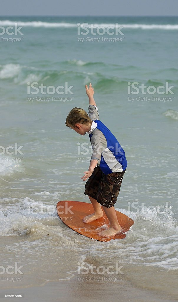Skimboard Action stock photo