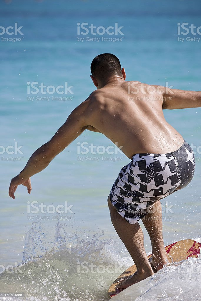 skimboarder royalty-free stock photo