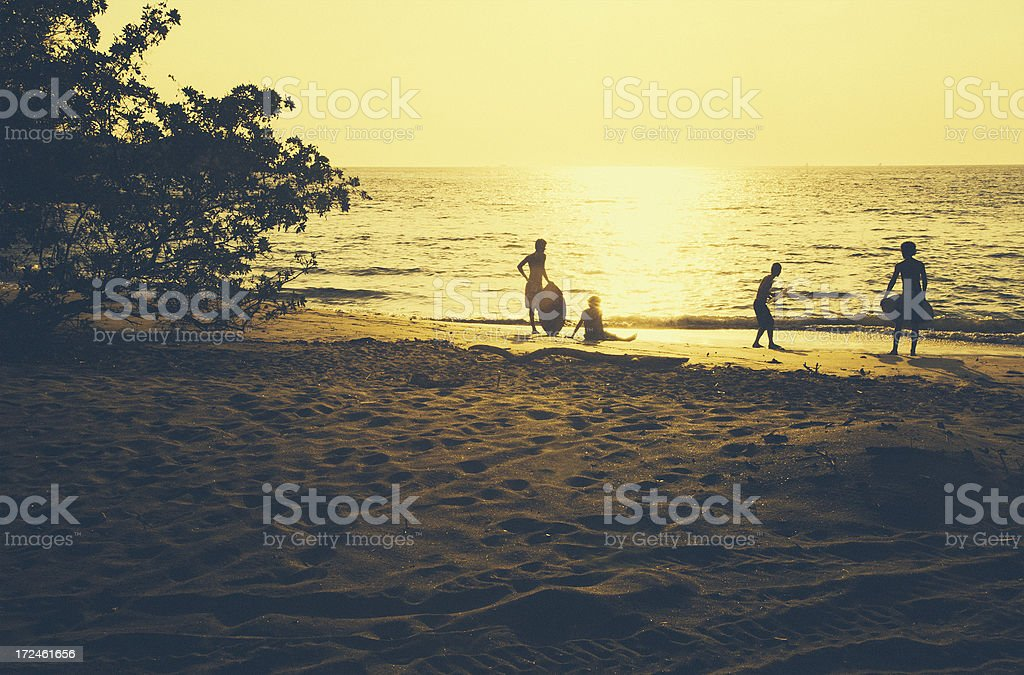skimboarding stock photo