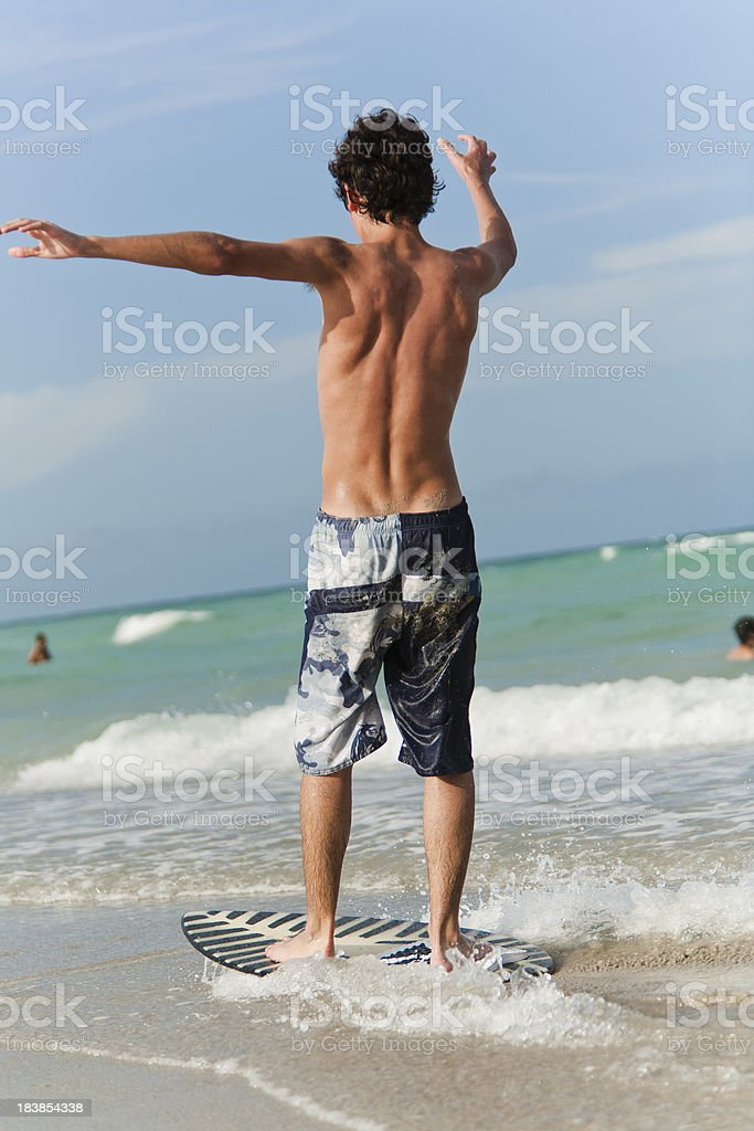 Skimboard stock photo