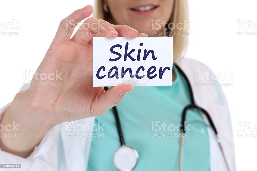 Skin cancer awareness disease ill illness health doctor nurse stock photo