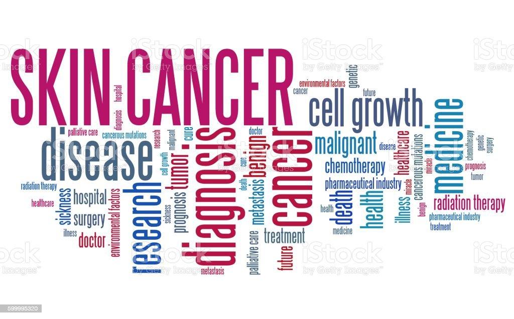 Skin cancer stock photo