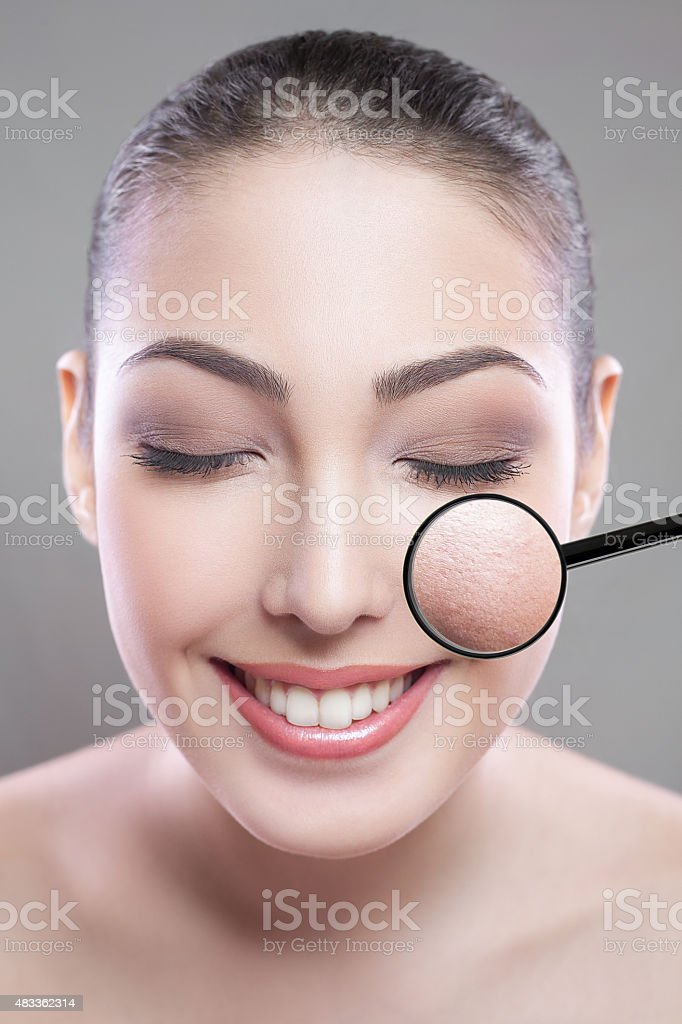 Skin care and beauty concept stock photo