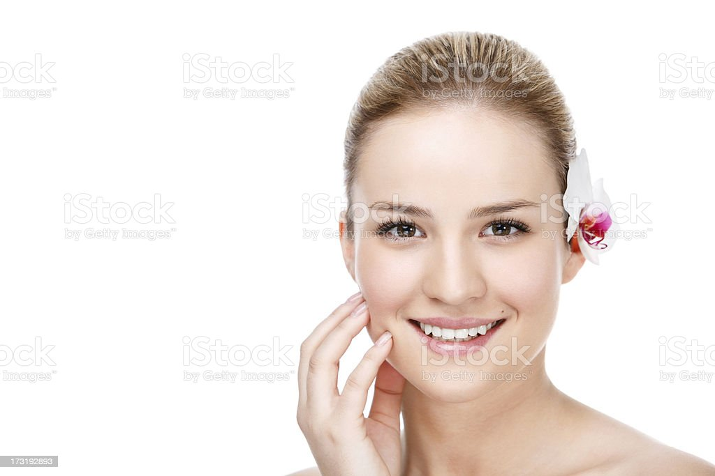 Skin care beauty woman royalty-free stock photo