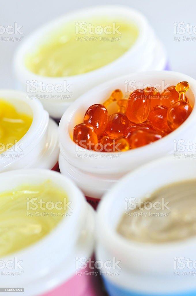 Skin care creams royalty-free stock photo