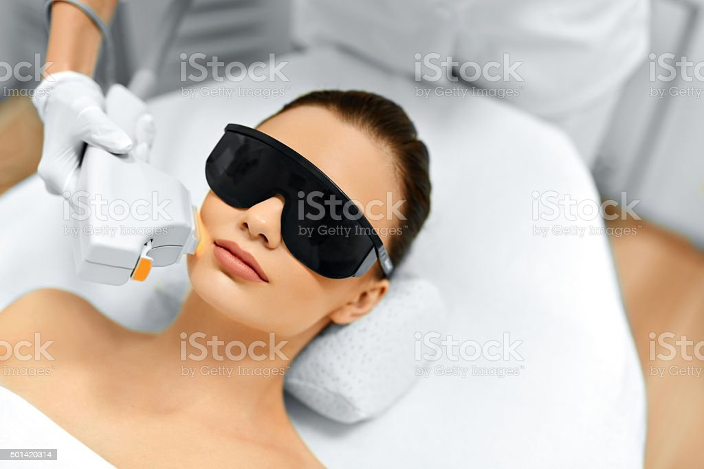 Skin Care. Face Beauty Treatment. IPL. Photo Facial Therapy. Ant stock photo