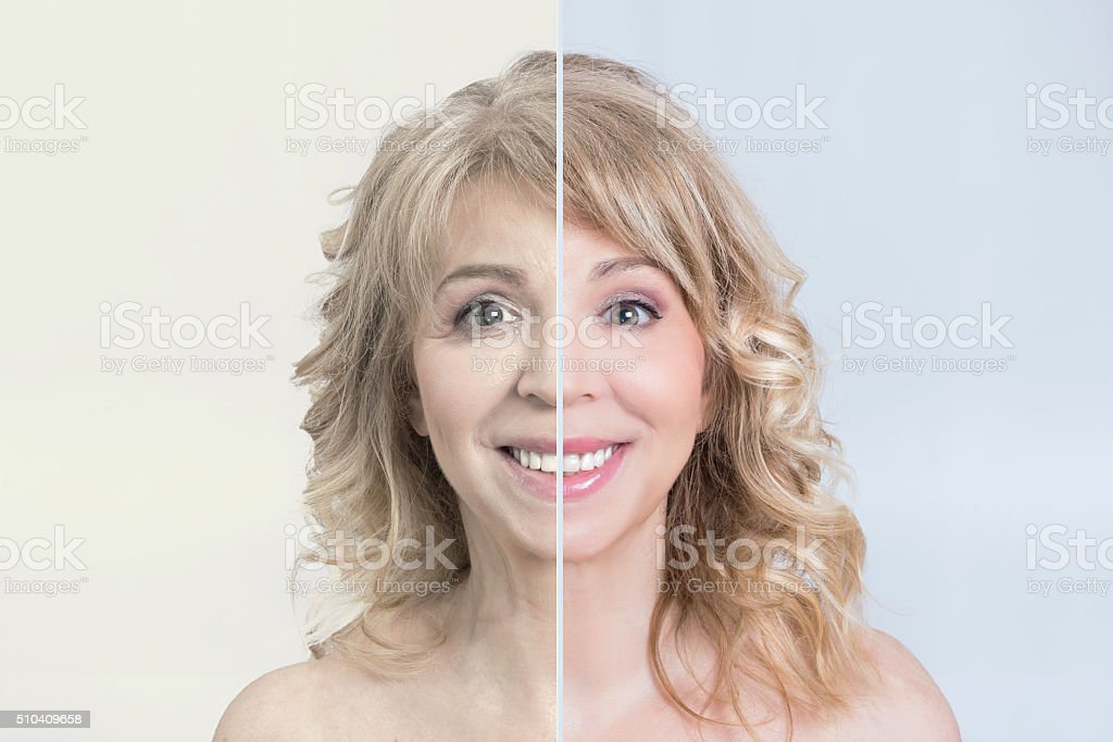 Skin care makeover stock photo