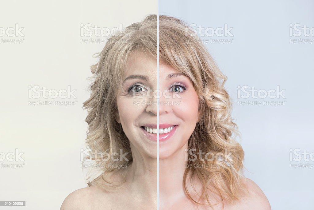 Skin care makeover stock photo