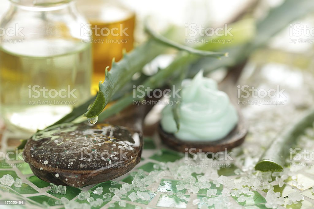 Skin care products. royalty-free stock photo