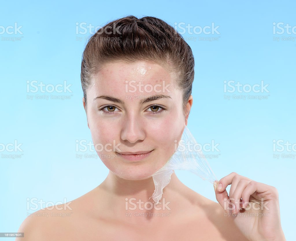 skin care woman royalty-free stock photo