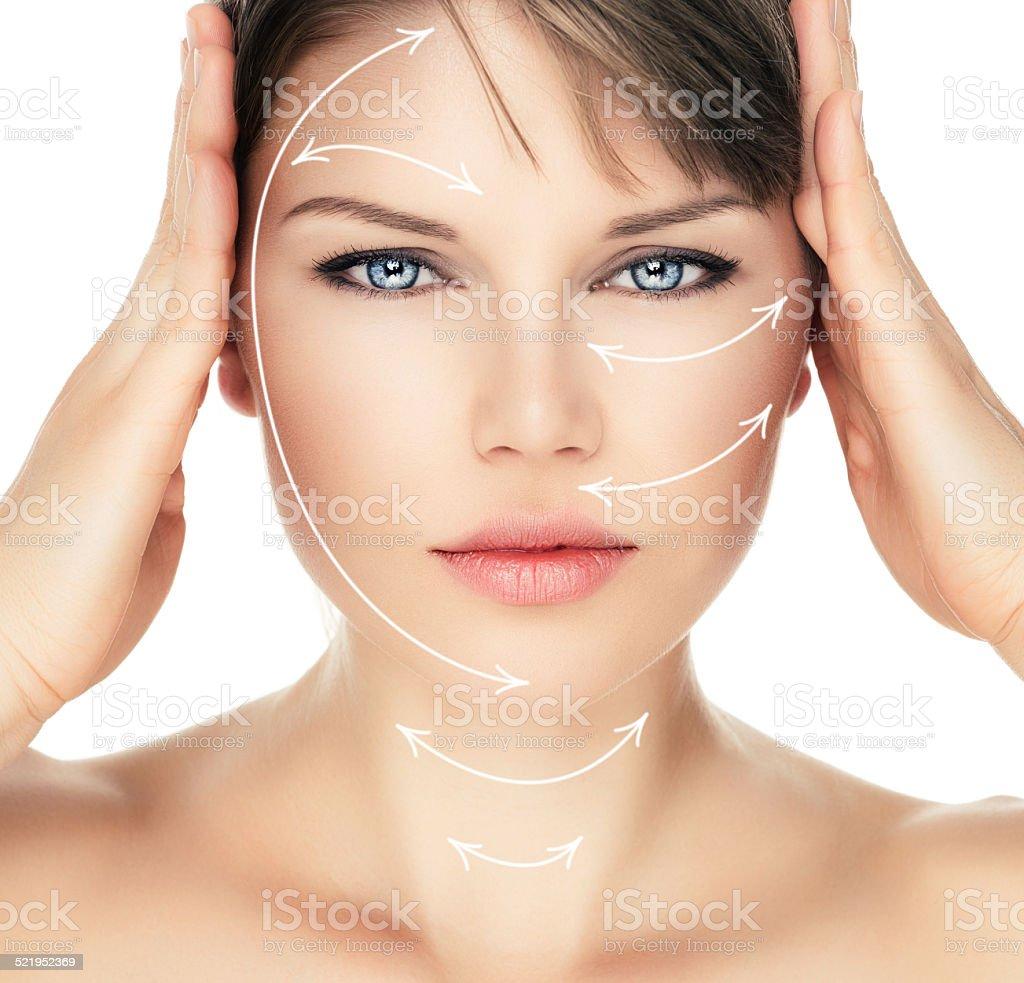 Skin care woman stock photo