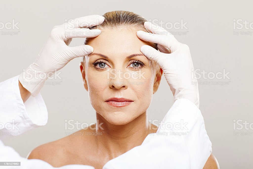 skin check before cosmetic surgery stock photo