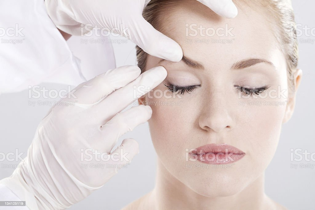 skin check stock photo