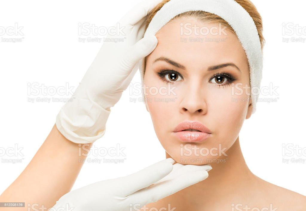 Skin examinations stock photo