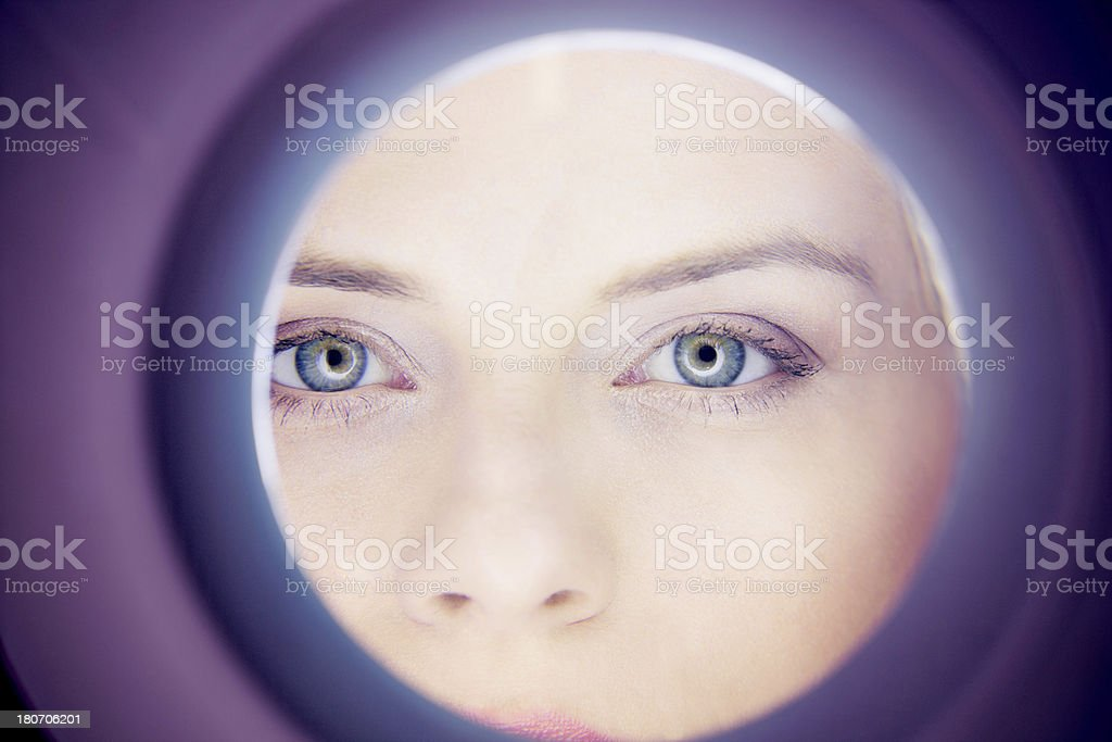 Skin inspection royalty-free stock photo
