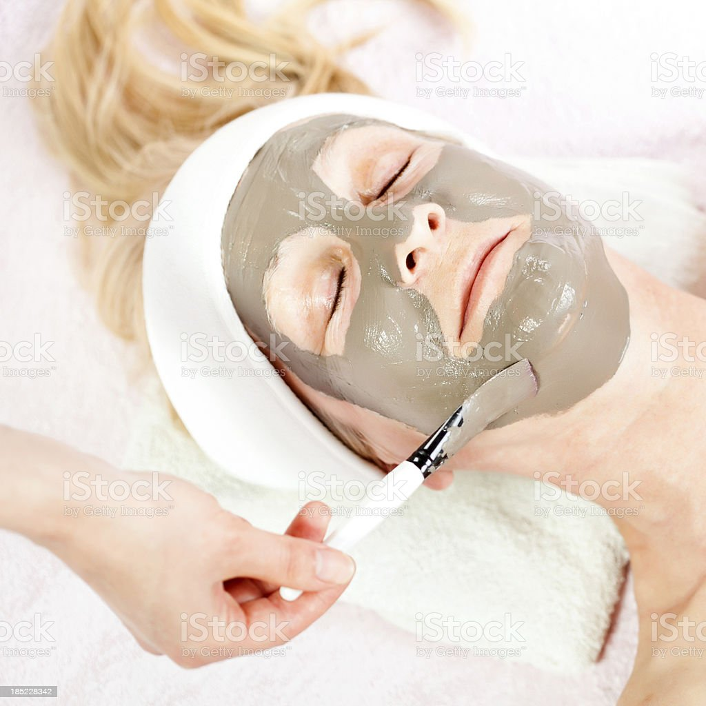 Skin mask treatment royalty-free stock photo