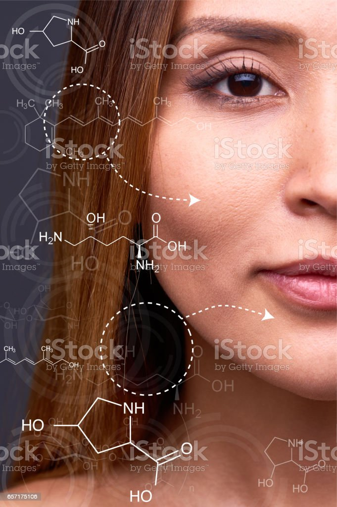 Skin nutrition stock photo
