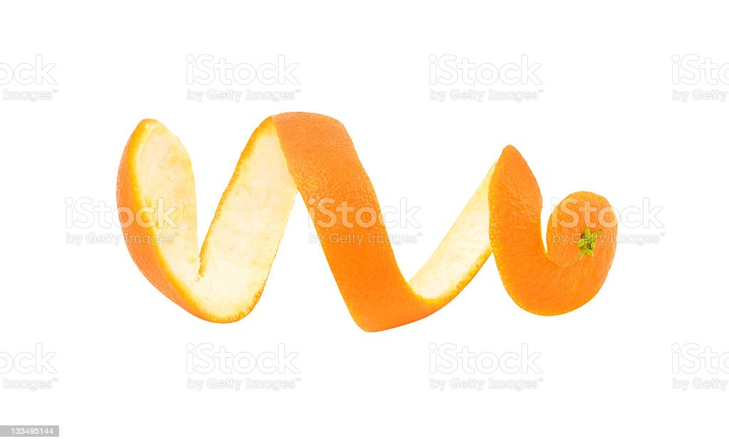 skin of mandarin stock photo