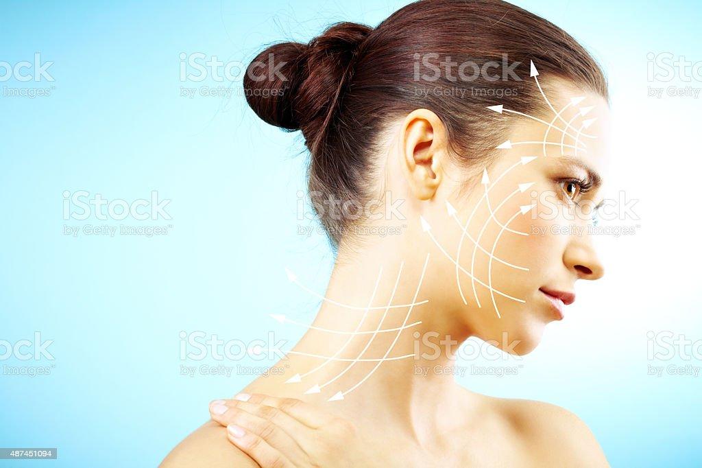 Skin resurfacing stock photo