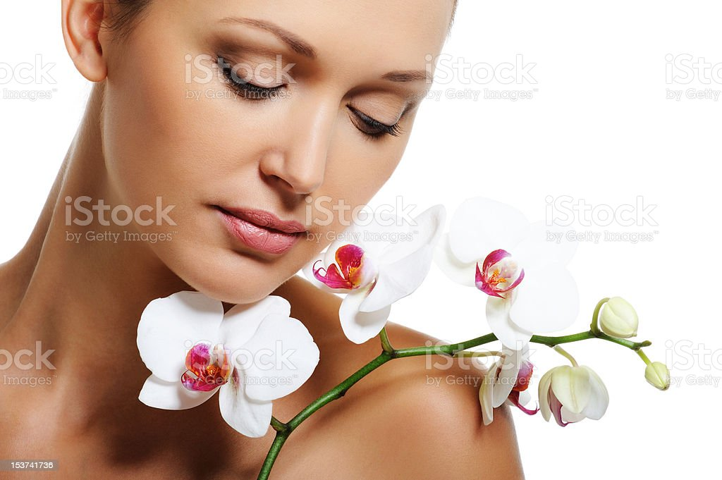 Skin treatment for beauty adult woman royalty-free stock photo