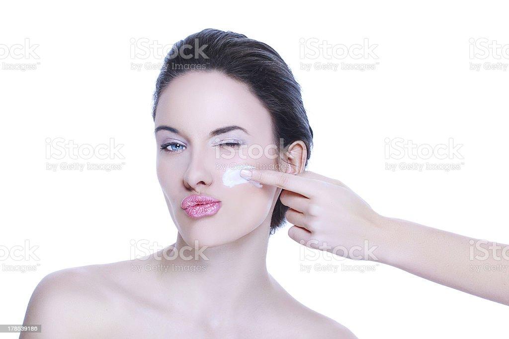 Skincare cream royalty-free stock photo