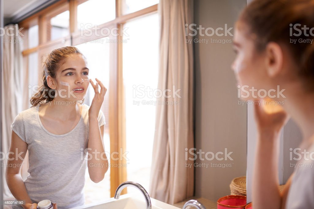 Skincare starts now stock photo