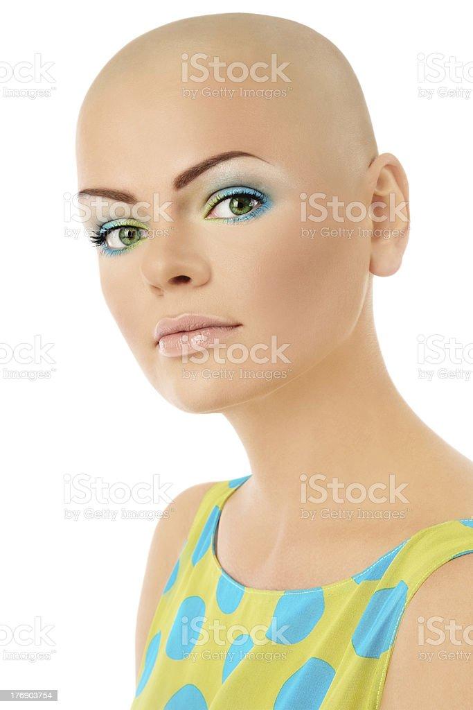 Skinhead beauty stock photo