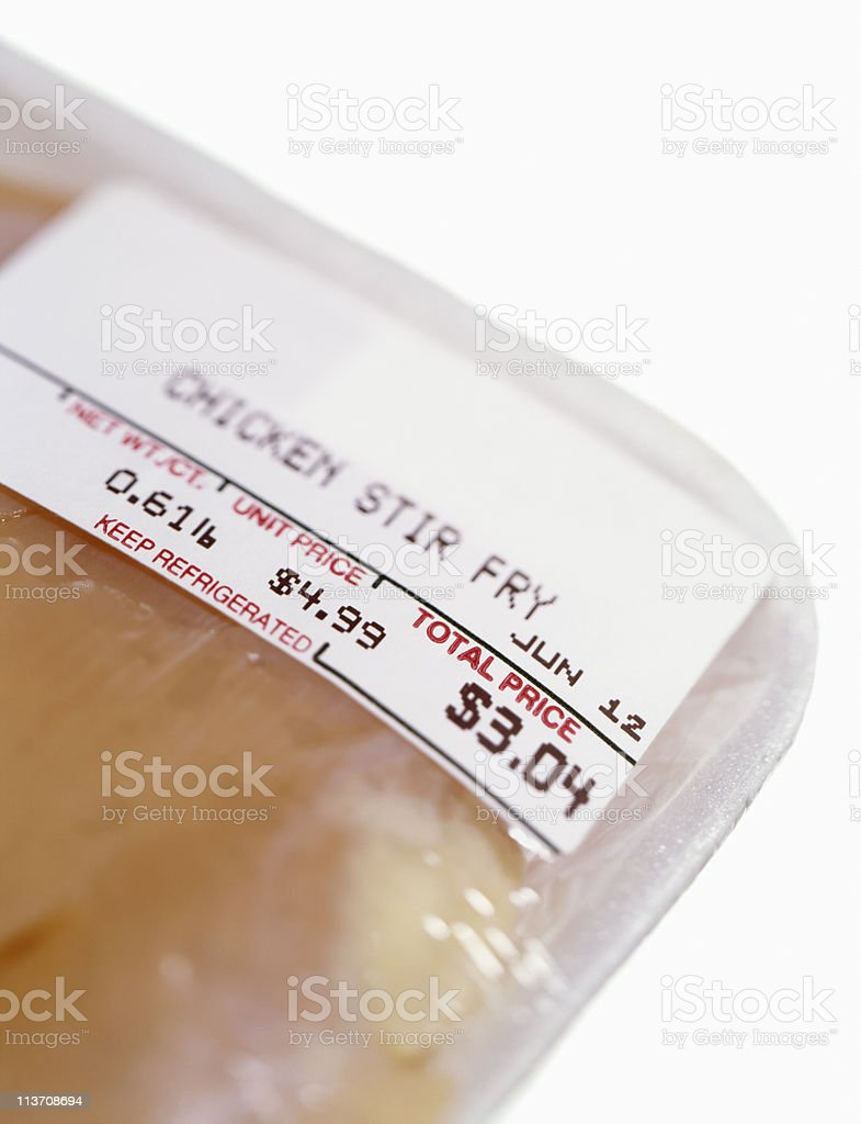 skinless chicken in store packaging cut out on white royalty-free stock photo