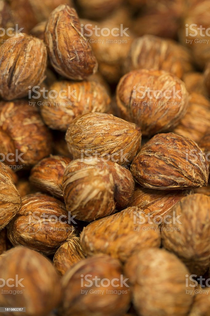 Skinned Chestnuts stock photo