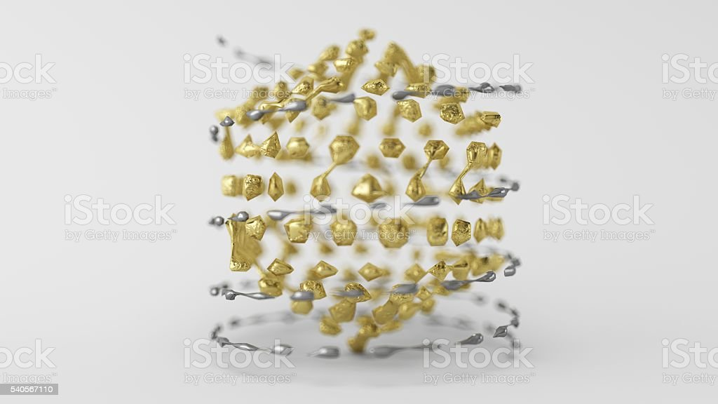 Skinned Particle Objects Helix stock photo