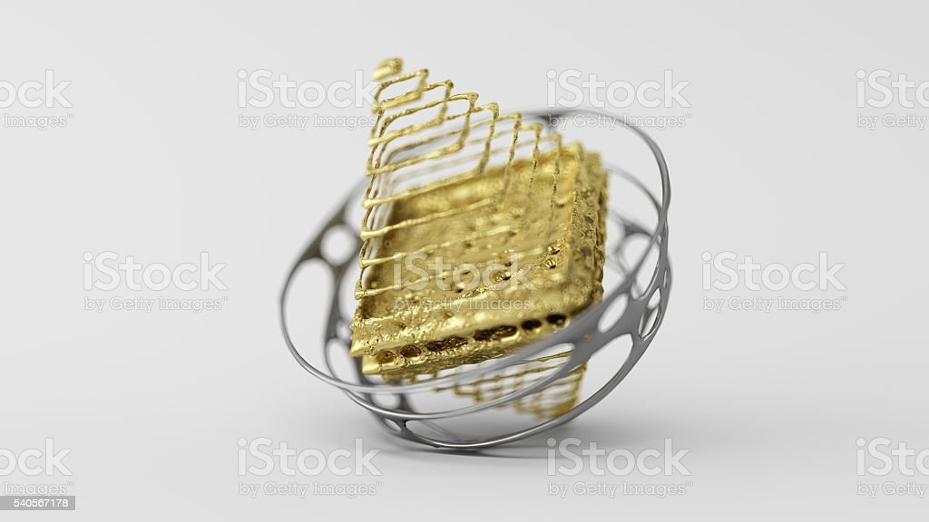 Skinned Particle Objects pyramid stock photo
