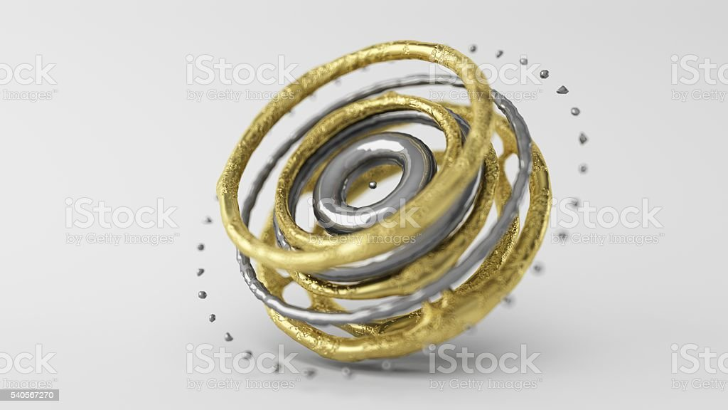 Skinned Particle Objects rings stock photo