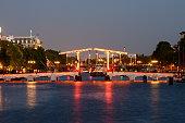 skinny bridge amsterdam early evening