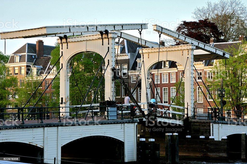 skinny bridge Amsterdam magere brug stock photo