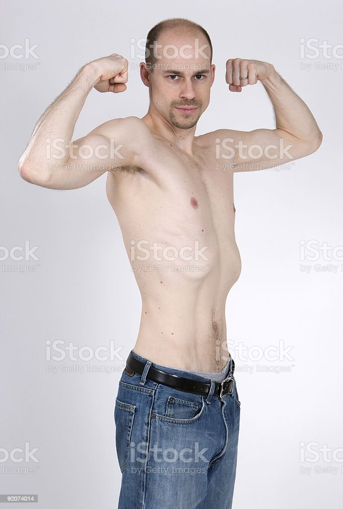 Skinny Man royalty-free stock photo