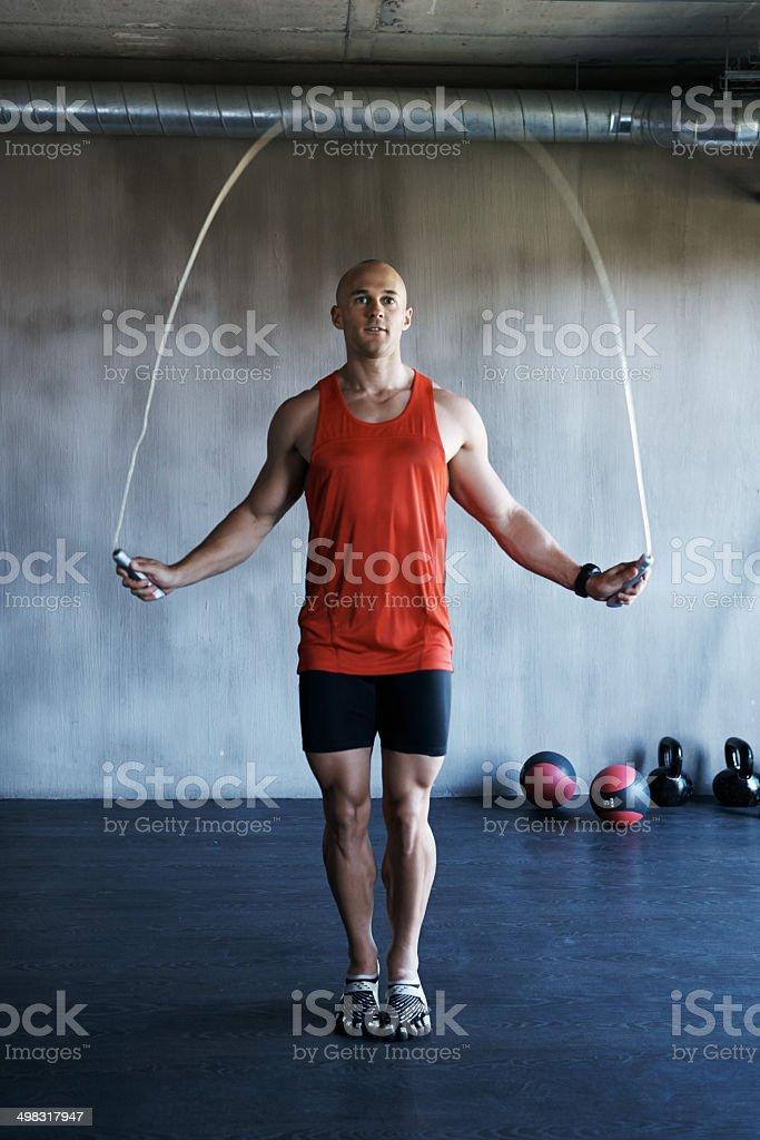 Skipping for fitness stock photo
