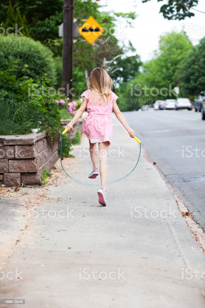 skipping stock photo