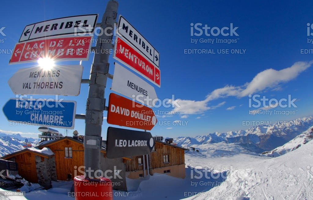 Skiresort - Val Thorens - Courchevel - Meribel stock photo