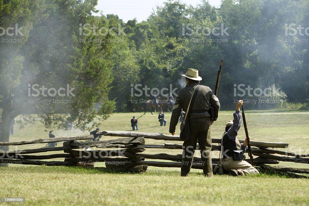 skirmish stock photo