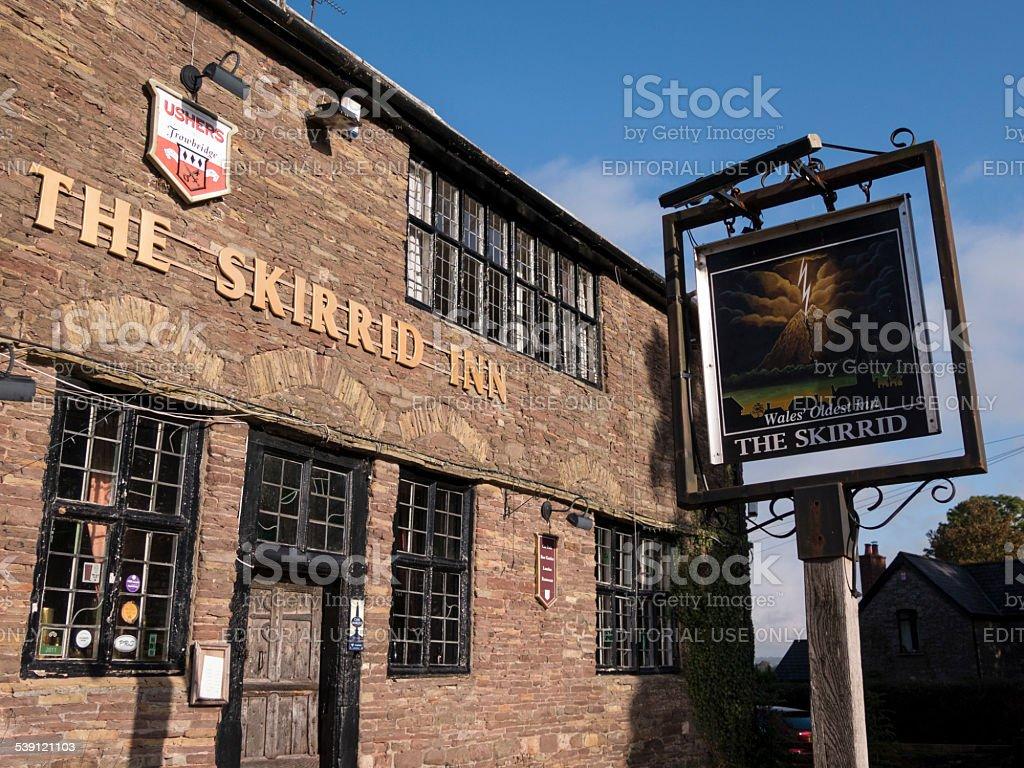 skirrid pub wales stock photo