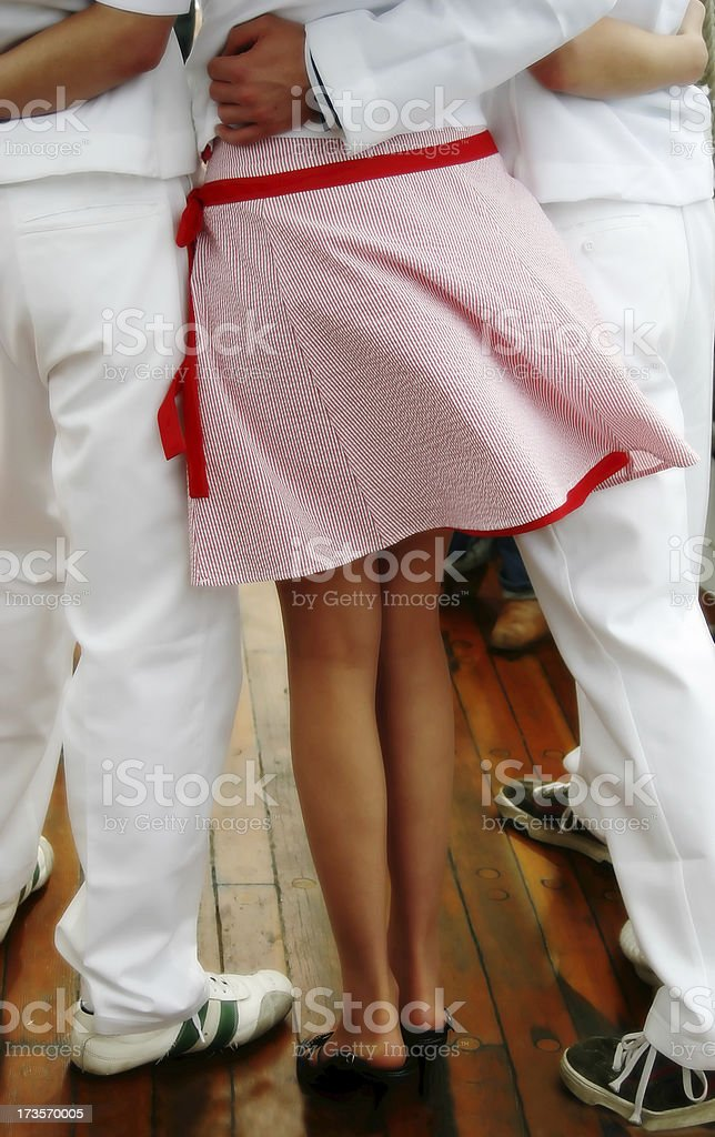 Skirt Blowing in Breeze stock photo