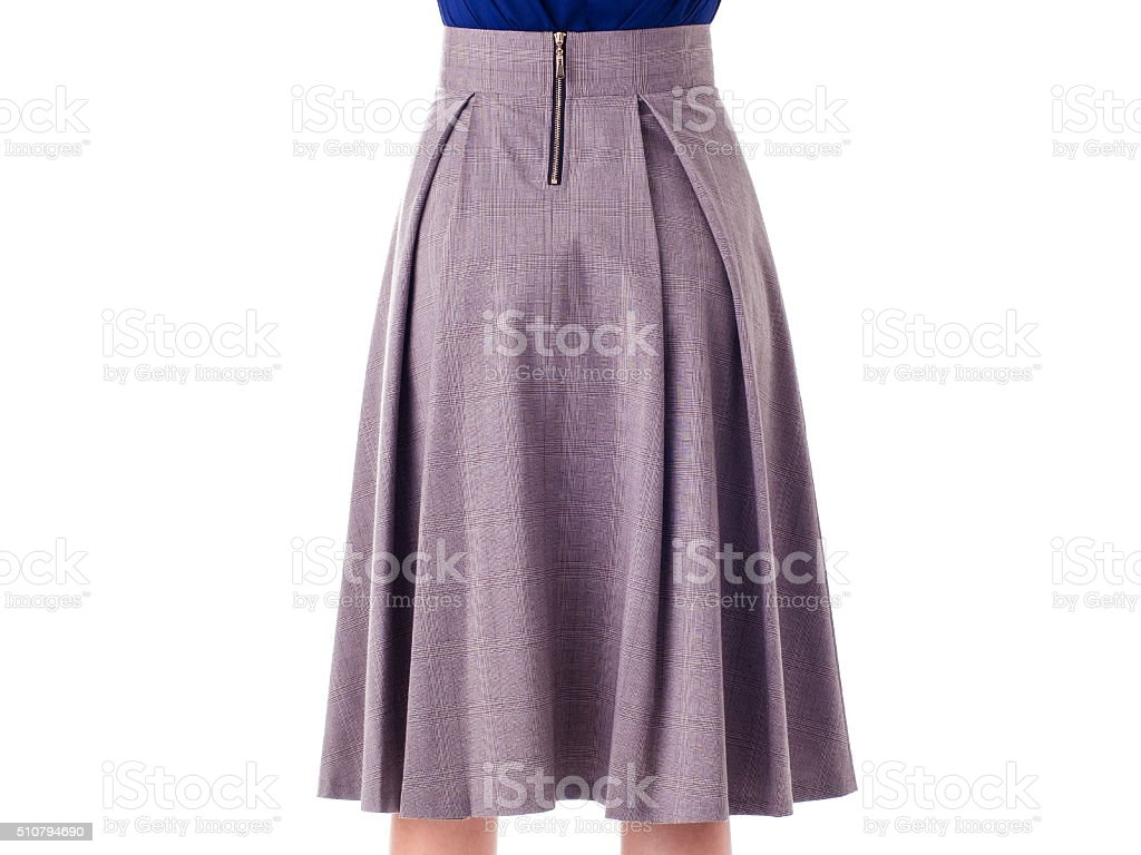 skirt on a white background stock photo