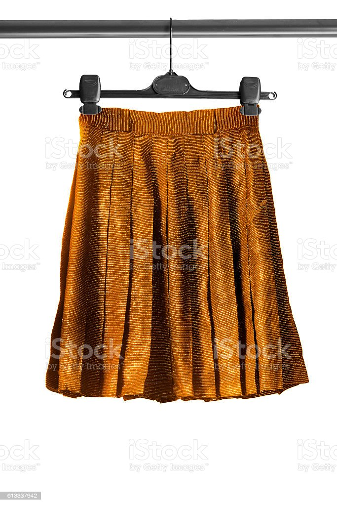 Skirt on clothes rack stock photo