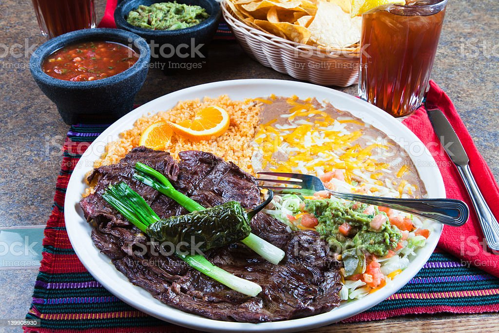 Skirt Steak, Mexican style royalty-free stock photo