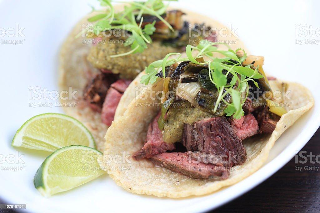 Skirt Steak Tacos stock photo
