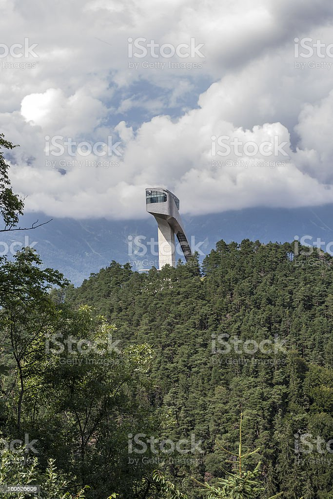 Skisprungschnaze Bergisel in Innsbruck, Tirol stock photo