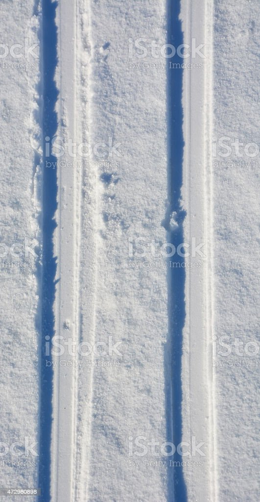 Ski-track. Picture can be used as a background stock photo