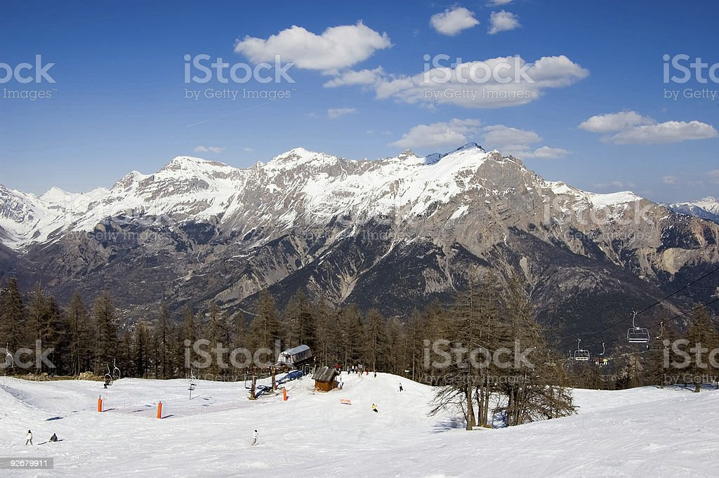 Ski-truck with view royalty-free stock photo