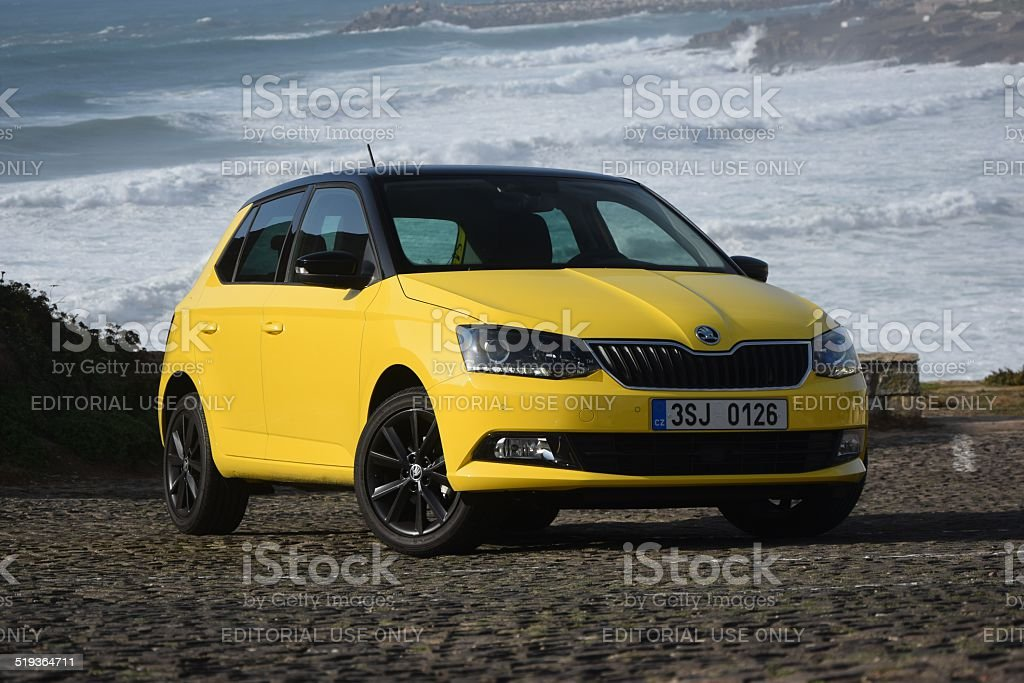 Skoda Fabia at the international press launch stock photo